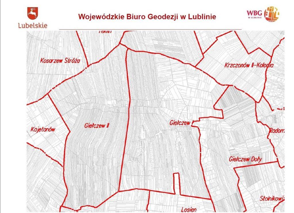 Przedstawienie obiektu scalenia Giełczew.