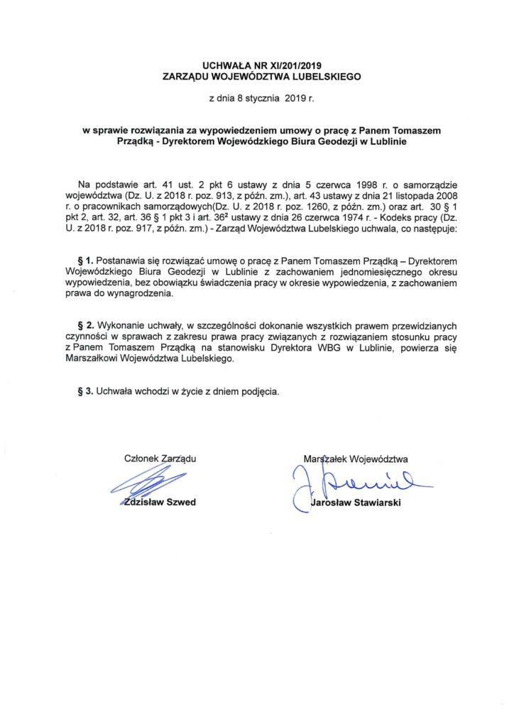 Uchwała nr XI/201/2019.