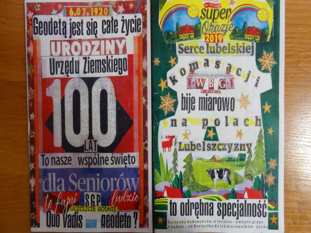 Fragment okolicznościowego albumu - spotkanie emerytów WBG w Lublinie