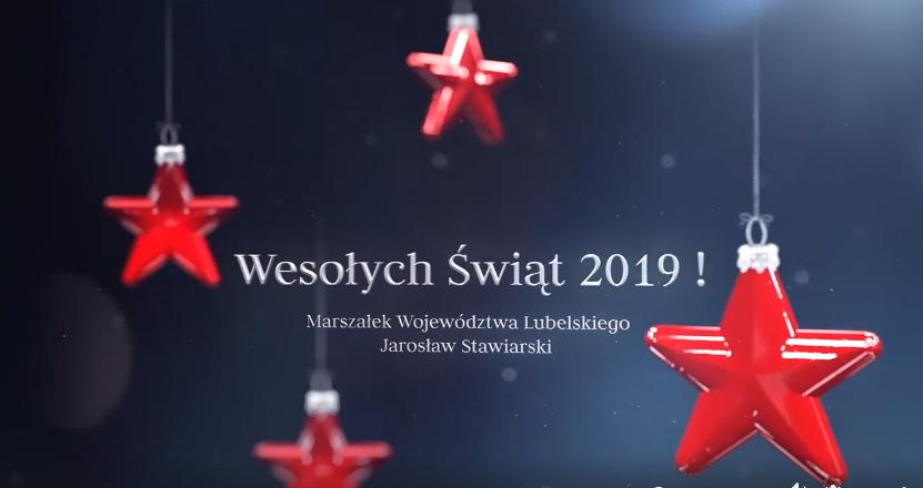 Pocztówka z napisem Wesołych Świąt 2019