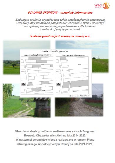 """Strona broszury """"Scalanie gruntów - materiały informacyjne"""""""
