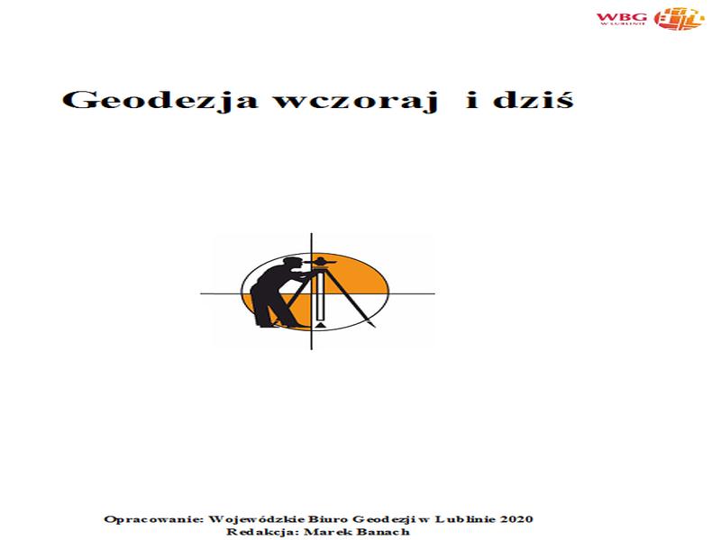 Okładka broszury Geodezja wczoraj i dziś